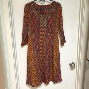 Vintage Gold and Marron Dress Size Small